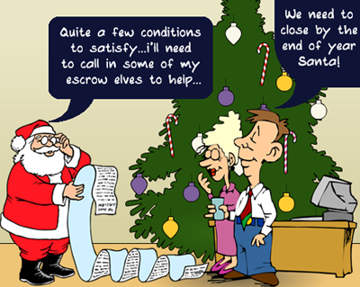 Santa Claus Closes The Escrow